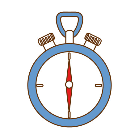 Chronometer device isolated icon vector illustration design Stock Vector - 90452705