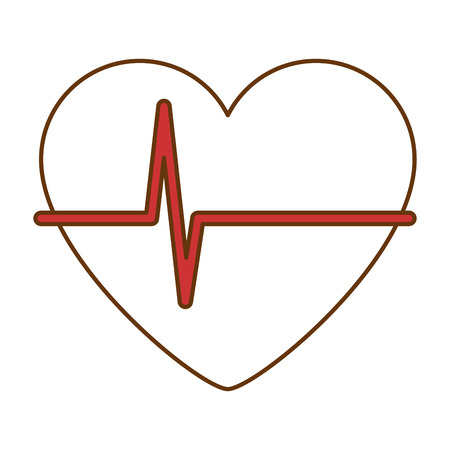 Heart with pulse icon vector illustration design Ilustracja