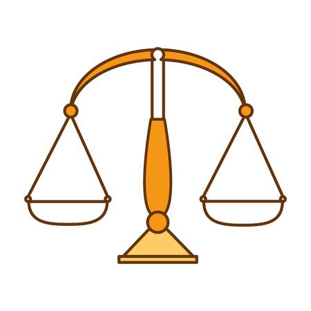 균형 측정 값 격리 된 아이콘 벡터 일러스트 레이 션 디자인