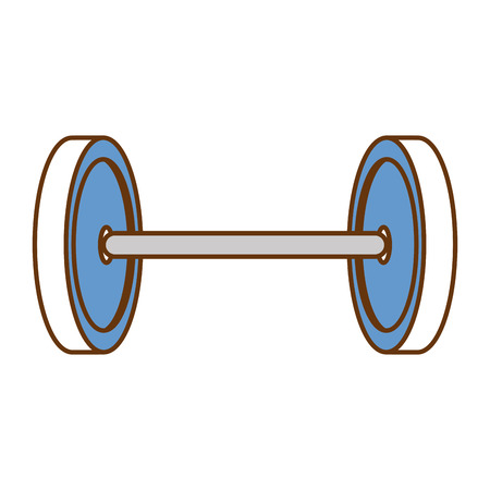 Weight lifting device icon vector illustration design Çizim