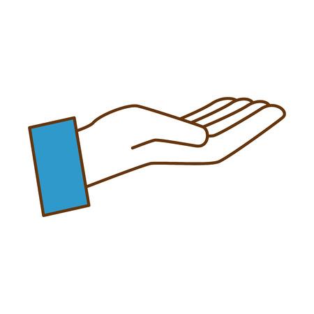 인간의 손에받는 아이콘 벡터 일러스트 레이 션 디자인