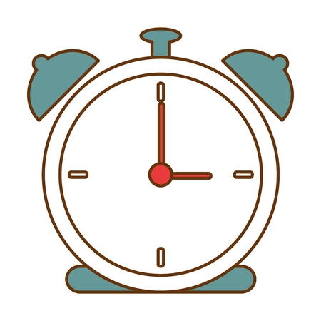 Alarm time clock icon vector illustration design 向量圖像