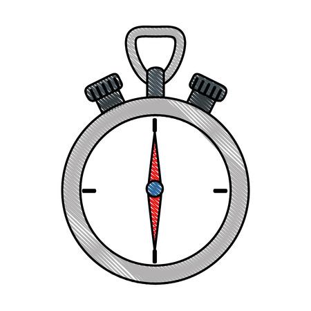 Chronomètre dispositif isolé icône vector illustration design Banque d'images - 90453052