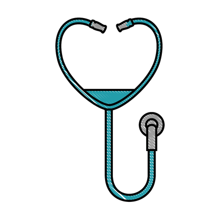 Stethoscope device medical icon vector illustration design
