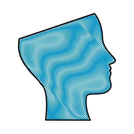 Het menselijke profiel geïsoleerde ontwerp van de pictogram vectorillustratie