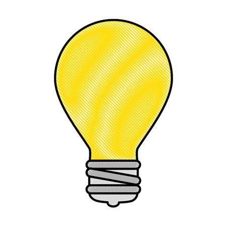Bulb light isolated icon vector illustration design Illustration
