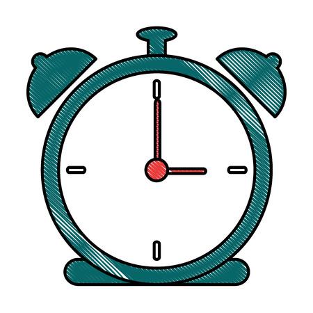 Alarm time clock icon vector illustration design 版權商用圖片 - 90454043