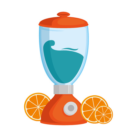 Blender electric with oranges vector illustration design Illustration