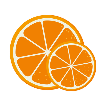 Orange sliced isolated icon vector illustration design