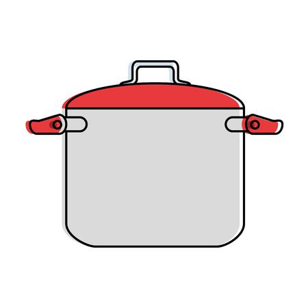 Pote de cozinha isolado ícone vector ilustração design Foto de archivo - 90454592