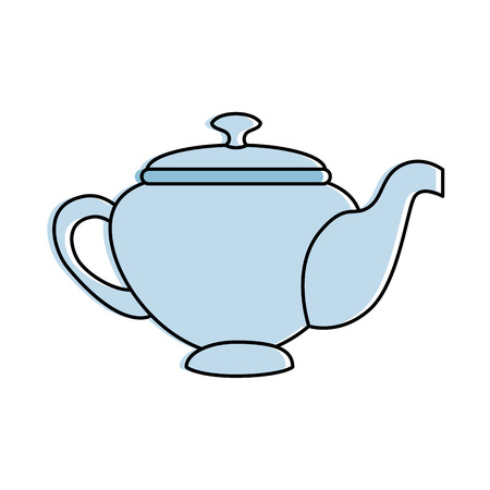 Teapot elegant isolated icon vector illustration design