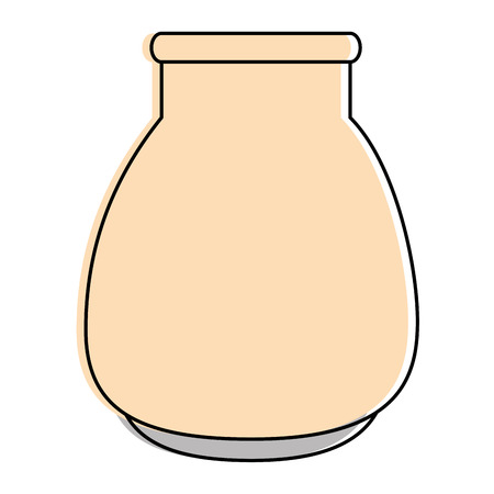 Glass jar isolated icon vector illustration design Ilustração