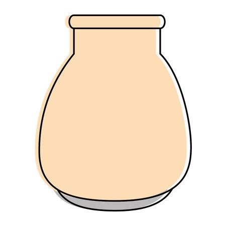 Vector de illustratieontwerp van het glaskruik geïsoleerd pictogram