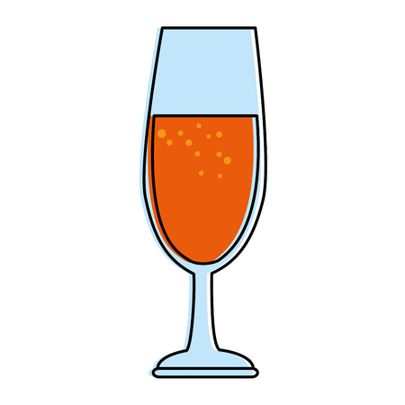 Cup of champagne icon vector illustration design Çizim