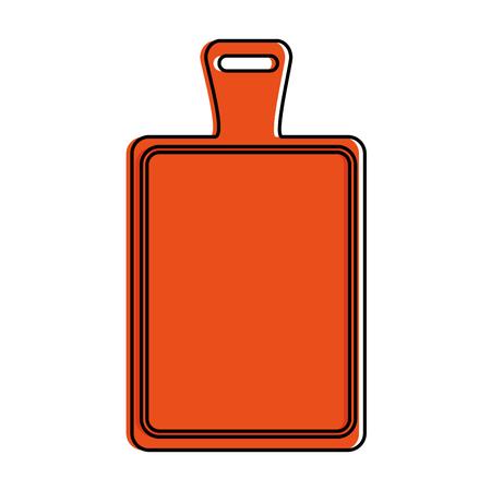 Kitchen board isolated icon vector illustration design Stock Vector - 90454623