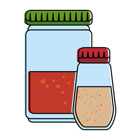 Spices bottles isolated icon vector illustration design Ilustracja