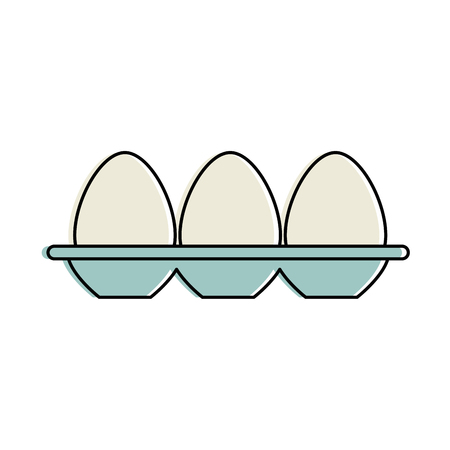 Eggs carton isolated icon vector illustration design