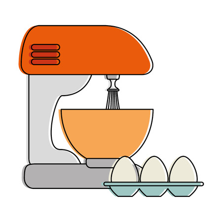 Mixer electric with eggs vector illustration design Stock Vector - 90454633