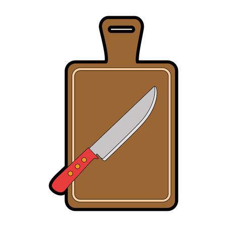 Tablero de la cocina con diseño de ilustración vectorial cuchillo Foto de archivo - 90455354