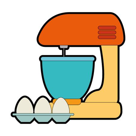 卵ベクトルイラストデザインとミキサー電気