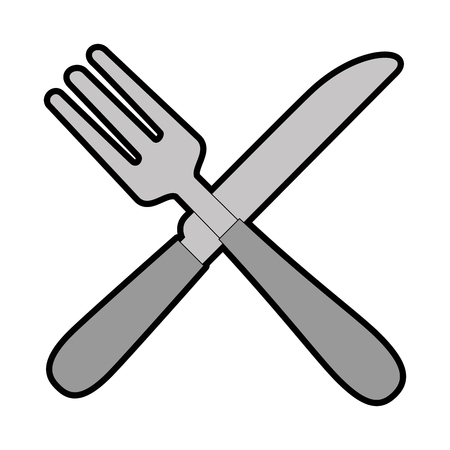 Cutlery set isolated icon vector illustration design