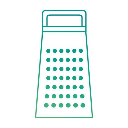 주방 강판 격리 된 아이콘 벡터 일러스트 디자인
