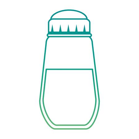 향신료 병 격리 된 아이콘 벡터 일러스트 디자인