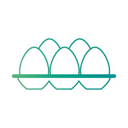卵カートン分離アイコンベクトルイラストデザイン