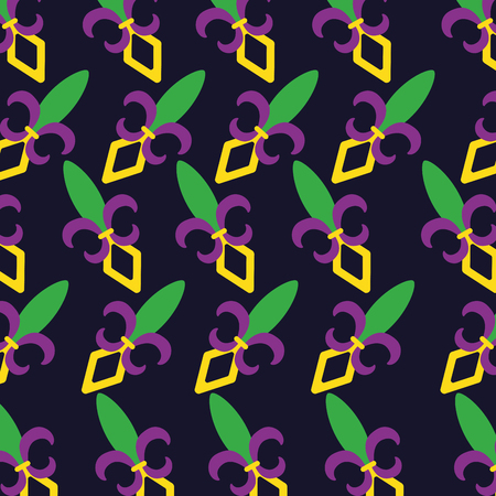 mardi gras fleur de lis concept pattern design vector illustration
