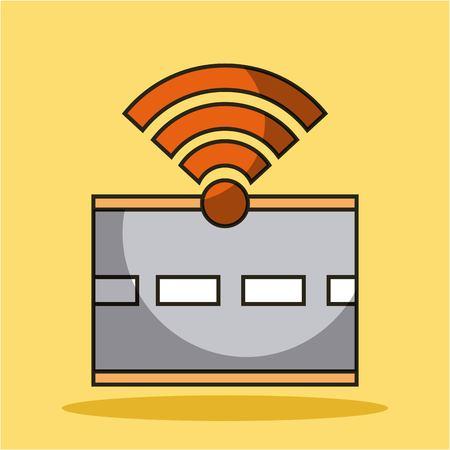 Gps route de la route de navigation sans fil tunnel vidéo icône du signal illustration vectorielle Banque d'images - 90418357