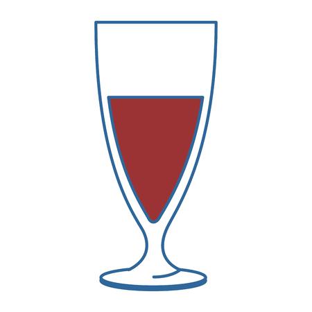 kop van champagne pictogram vector illustratieontwerp Stock Illustratie