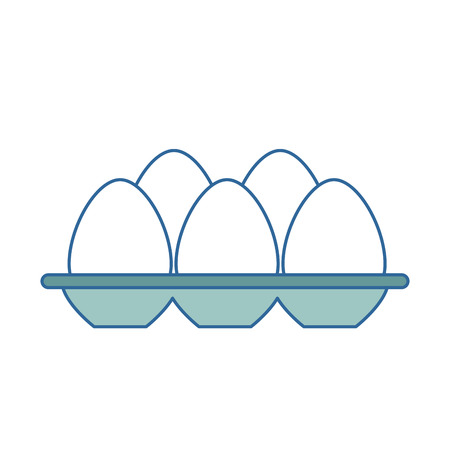 eggs carton isolated icon vector illustration design  イラスト・ベクター素材