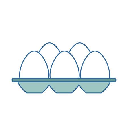 oeufs carton isolé icône du design d & # 39 ; illustration vectorielle Vecteurs