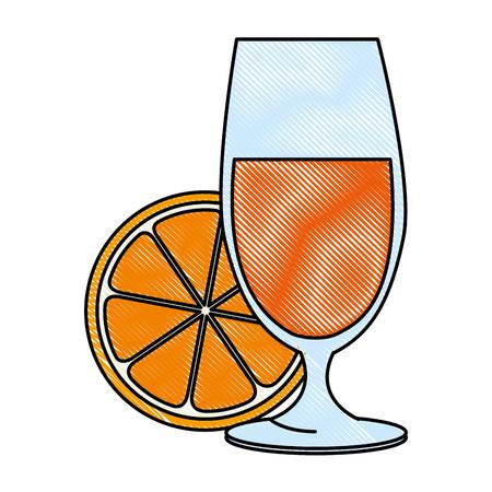오렌지 주스 벡터 일러스트 디자인 컵 스톡 콘텐츠 - 90468422