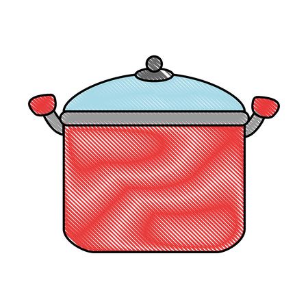 Olla de cocina aislado icono de ilustración vectorial de diseño Foto de archivo - 90468436