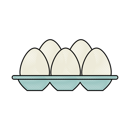eggs carton isolated icon vector illustration design Ilustração