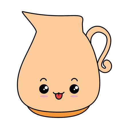 glass jar character vector illustration design Illusztráció