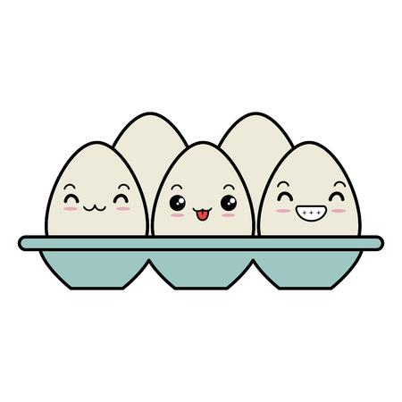 卵カートンキャラクターベクトルイラストデザイン 写真素材 - 90472114