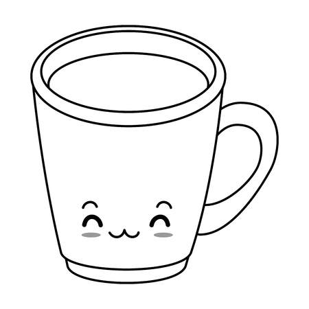 coffee mug character vector illustration design