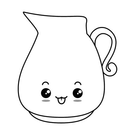 glass jar character vector illustration design Illustration