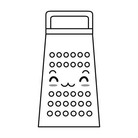 kitchen grater character vector illustration design Illustration
