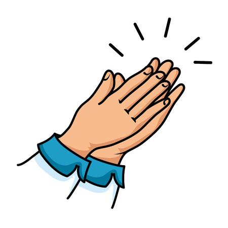 hands applauding isolated icon vector illustration design 版權商用圖片 - 90472218