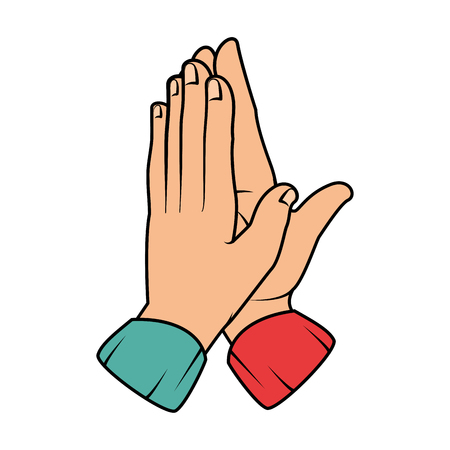 Hände applaudieren isoliert Symbol Vektor Illustration design Standard-Bild - 90472221