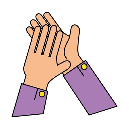 Hände applaudieren isolierten Symbol Vektor-Illustration , Design , Standard-Bild - 90472224