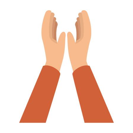 Hände applaudieren isoliert Symbol Vektor Illustration design Standard-Bild - 90472227
