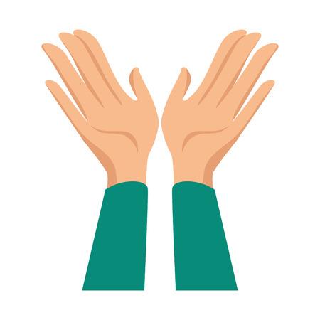 Mãos aplaudindo isolado ícone vetor ilustração design Foto de archivo - 90472228