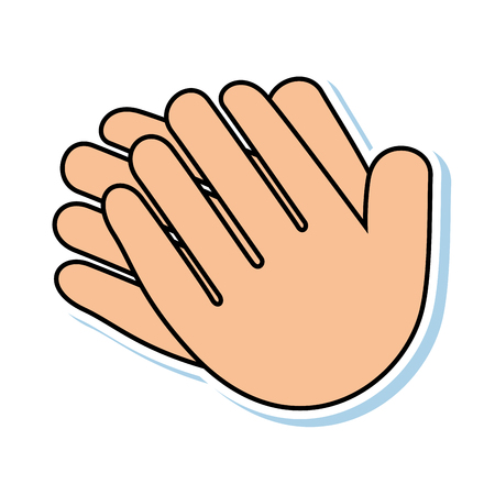 hands applauding isolated icon vector illustration design 版權商用圖片 - 90472229