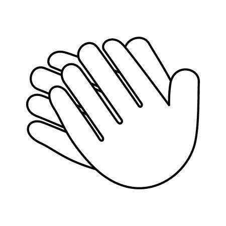 Mãos aplaudindo isolado ícone vetor ilustração design Foto de archivo - 90507619
