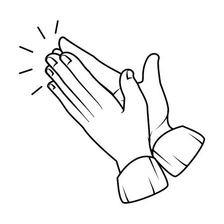 hands applauding isolated icon vector illustration design Reklamní fotografie - 90474695
