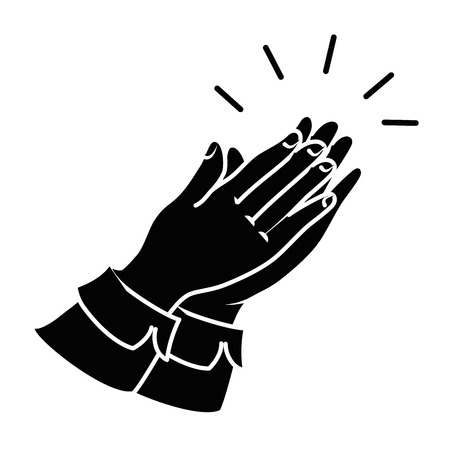 hands applauding isolated icon vector illustration design Banco de Imagens - 90474416